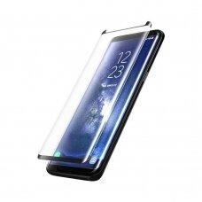 Lcd Apsauginis Stikliukas Adpo 3D Pritaikytas Dėklui Samsung G955 S8 Plus Lenktas Juodas