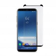 LCD apsauginis stikliukas Adpo 3D pritaikytas dėklui Samsung G965 S9 Plus lenktas juodas UCS007