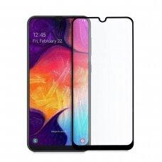 LCD apsauginis stikliukas Adpo 3D Samsung A505 A50/A507 A50s/A307 A30s lenktas juodas UCS031