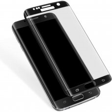 Lcd Apsauginis Stikliukas Adpo 3D Samsung G935 S7 Edge Lenktas Juodas