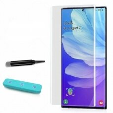 LCD apsauginis stikliukas M1 5D UV Glue Samsung G960 S9 lenktas skaidrus