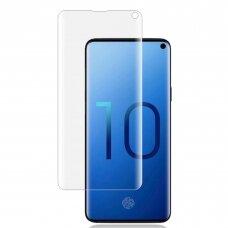 LCD apsauginis stikliukas M1 5D UV Glue Samsung G973 S10 lenktas skaidrus UCS007