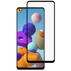 LCD apsauginis stikliukas MyScreen Diamond Edge Full Glue Samsung A217 A21S juodas UCS027