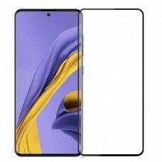 LCD apsauginis stikliukas MyScreen Lite Edge Full Glue Samsung A515 A51 juodas UCS025