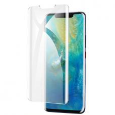 LCD apsauginis stikliukas Nano Optics 5D UV Glue Huawei P20 lenktas skaidrus UCS076