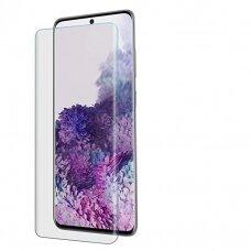 LCD apsauginis stikliukas Nano Optics 5D UV Glue Samsung G986 S20 Plus/S11 lenktas skaidrus UCS002