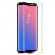 Lcd Apsauginis Stikliukas Nano Optics 5D Uv Glue Samsung N950 Note 8 Lenktas Skaidrus