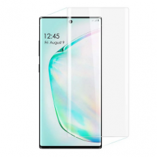 LCD apsauginis stikliukas Nano Optics 5D UV Glue Samsung N970 Note 10 lenktas skaidrus UCS021
