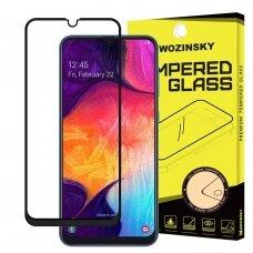 LCD apsauginis stikliukas Wozinsky 5D pritaikytas dėklui Huawei P30 juodas