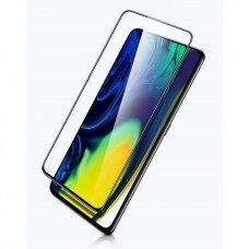 Lcd Lenktas Apsauginis Stiklas 5D Cold Carving Huawei P30 Pro Juodais Kraštais