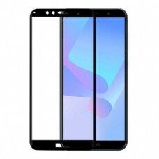 Lcd Lenktas Apsauginis Stikliukas 5D Full Glue Huawei Y6 2018 Juodais Kraštais