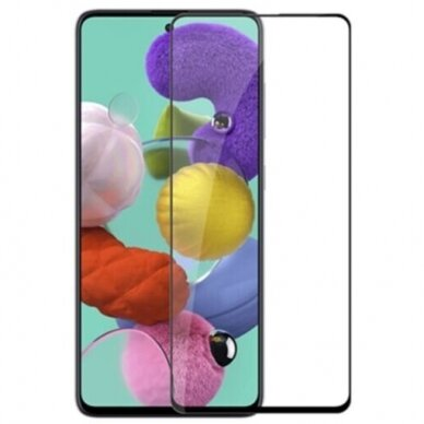 LCD apsauginis stikliukas 9D Full Glue Samsung A725 A72 juodas
