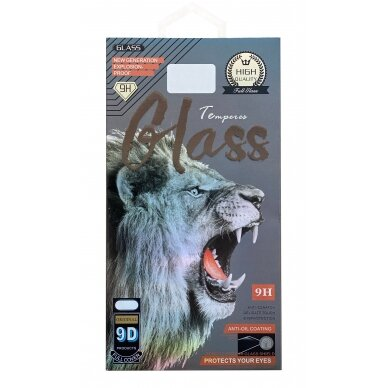 LCD apsauginis stikliukas 9D Full Glue Samsung A725 A72 juodas 2