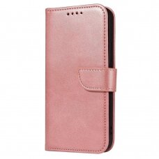Atverčiamas Dėklas Magnet Case elegant bookcase Huawei P40 Lite E Rožinis