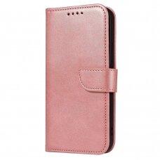 Atverčiamas Dėklas Magnet Case elegant bookcase Huawei P40 Lite Rožinis