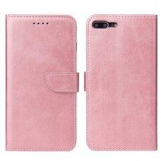 Atverčiamas Dėklas Magnet Case elegant bookcase iPhone 8 Plus / iPhone 7 Plus Rožinis