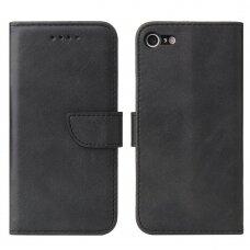 Atverčiamas Dėklas Magnet Case elegant bookcase iPhone SE 2020 / iPhone 8 / iPhone 7 Juodas