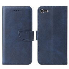 Atverčiamas Dėklas Magnet Case elegant bookcase iPhone SE 2020 / iPhone 8 / iPhone 7 Mėlynas