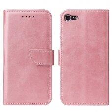 Atverčiamas Dėklas Magnet Case elegant bookcase iPhone SE 2020 / iPhone 8 / iPhone 7 Rožinis