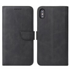 Atverčiamas Dėklas Magnet Case elegant bookcase iPhone XS / iPhone X Juodas