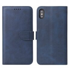 Atverčiamas Dėklas Magnet Case elegant bookcase iPhone XS / iPhone X Mėlynas