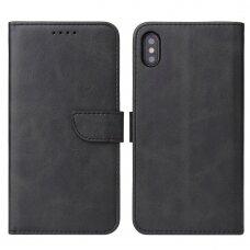 Atverčiamas Dėklas Magnet Case elegant bookcase iPhone XS Max Juodas