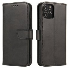 Atverčiamas Dėklas Magnet Case elegant bookcase LG Velvet 5G Juodas