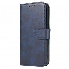 Atverčiamas Dėklas Magnet Case elegant bookcase Samsung Galaxy A72 4G Mėlynas