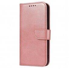 Atverčiamas Dėklas Magnet Case elegant bookcase Samsung Galaxy A72 4G Rožinis