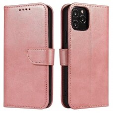 Atverčiamas Dėklas Magnet Case elegant bookcase Xiaomi Mi 11 Rožinis