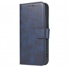 Atverčiamas Dėklas Magnet Case elegant bookcase Xiaomi Redmi Note 9 Pro / Redmi Note 9S Mėlynas