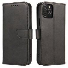 Atverčiamas Dėklas Magnet Case elegant bookcase Xiaomi Redmi Note 9T 5G Juodas