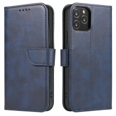 Atverčiamas Dėklas Magnet Case elegant bookcase Xiaomi Redmi Note 9T 5G Mėlynas