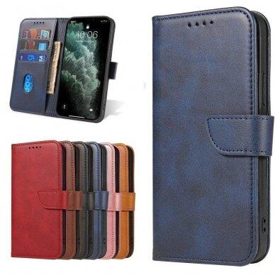 Atverčiamas Dėklas Magnet Case elegant bookcase Samsung Galaxy S20 Mėlynas 9