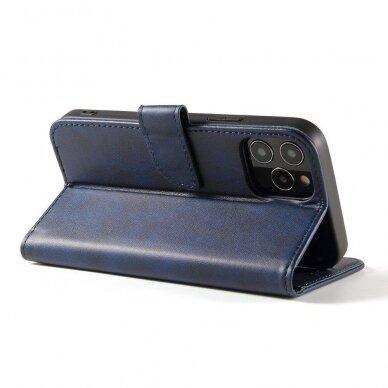 Atverčiamas Dėklas Magnet Case elegant bookcase Samsung Galaxy S20 Mėlynas 7