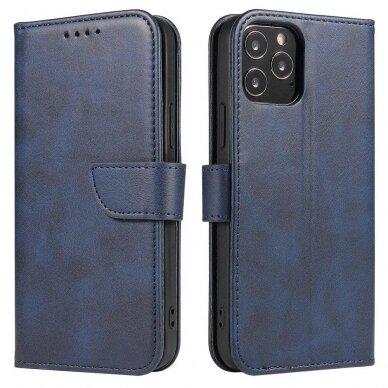 Atverčiamas Dėklas Magnet Case elegant bookcase Samsung Galaxy S20 Mėlynas 6