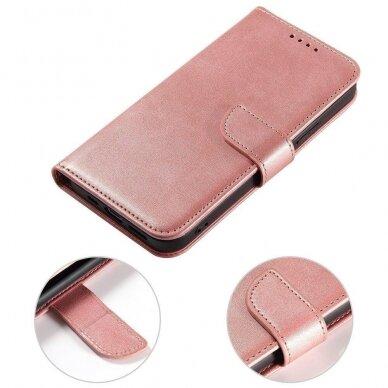 Atverčiamas Dėklas Magnet Case elegant bookcase Samsung Galaxy S20 Rožinis 2