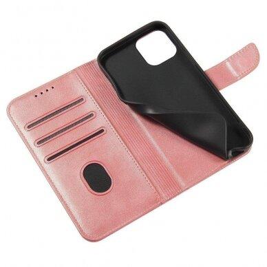 Atverčiamas Dėklas Magnet Case elegant bookcase Samsung Galaxy S20 Rožinis 3