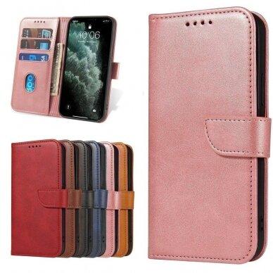 Atverčiamas Dėklas Magnet Case elegant bookcase Samsung Galaxy S20 Rožinis 9