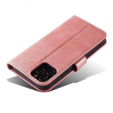 Atverčiamas Dėklas Magnet Case elegant bookcase Samsung Galaxy S20 Rožinis 8