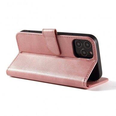 Atverčiamas Dėklas Magnet Case elegant bookcase Samsung Galaxy S20 Rožinis 7