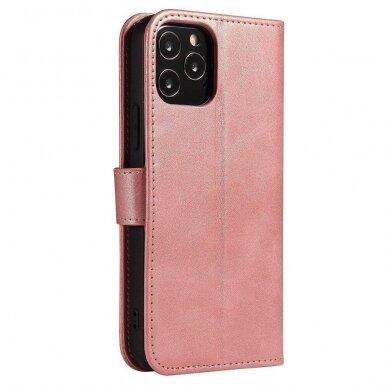 Atverčiamas Dėklas Magnet Case elegant bookcase Samsung Galaxy S20 Rožinis 5