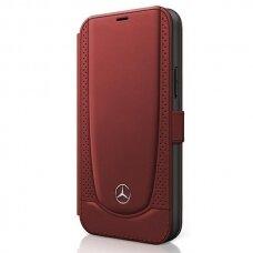Originalus atverčiamas Mercedes dėklas Meflbkp12Marmre Iphone 12/12 Pro raudonas Urban Line