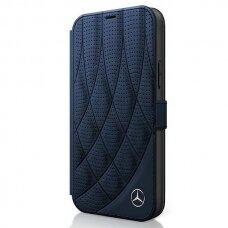 Originalus atverčiamas Mercedes dėklas Meflbkp12Sdiqna Iphone 12 Mini tamsiai mėlynas Bow Line