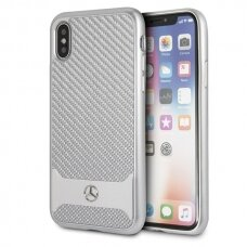 Mercedes MEHCPXHACASI iPhone X/Xs hard case srebrny/silver Real Carbon Dynamic USC060