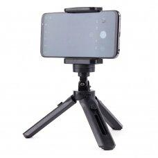 Trikojis Mini Telefono Laikiklis - Asmenukių Lazda - Kameros GoPro laikiklis juodas