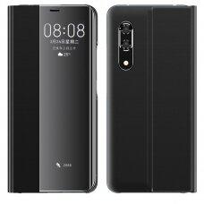 New Sleep Case Atverčiamas Dėklas, Turintis Atramos Funkciją Huawei P30 Juodas