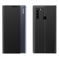 New Sleep Case Atverčiamas Dėklas, Turintis Atramos Funkciją skirta Xiaomi Redmi Note 8T Juodas