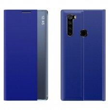 New Sleep Case Atverčiamas Dėklas, Turintis Atramos Funkciją skirta Xiaomi Redmi Note 8T Mėlynas