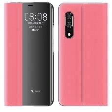New Sleep Case Atverčiamas Dėklas, Turintis Atramos Funkciją Huawei P30 Rožinis